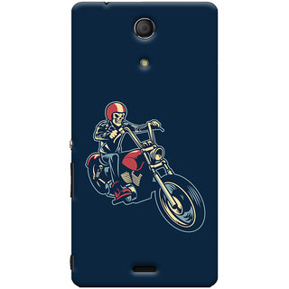 Oyehoye Bikers Or Riders Choice Printed Designer Back Cover For Sony Xperia ZR Mobile Phone - Matte Finish Hard Plastic Slim Case