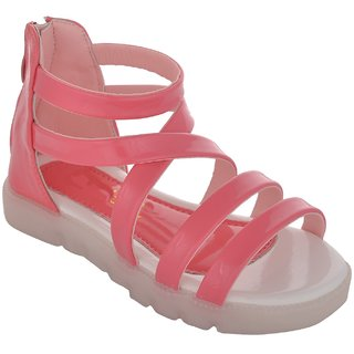 Small Toes Pink Casual Sandals for Girls