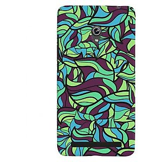Oyehoye Modern Art Pattern Style Printed Designer Back Cover For Asus Zenfone 6 Mobile Phone - Matte Finish Hard Plastic Slim Case