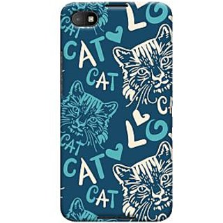 Oyehoye Cat Love Pattern Style Printed Designer Back Cover For Blackberry Z30 Mobile Phone - Matte Finish Hard Plastic Slim Case