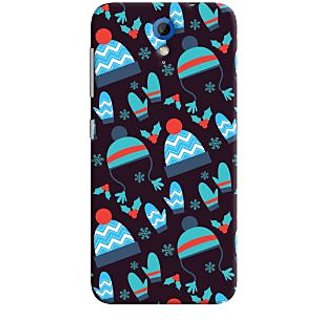 Oyehoye Winter Pattern Style Printed Designer Back Cover For HTC Desire 620 Mobile Phone - Matte Finish Hard Plastic Slim Case