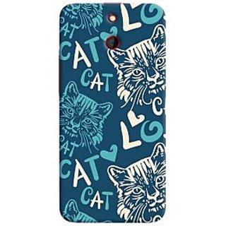 Oyehoye Cat Love Pattern Style Printed Designer Back Cover For HTC One E8 Mobile Phone - Matte Finish Hard Plastic Slim Case