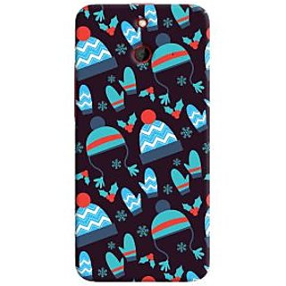 Oyehoye Winter Pattern Style Printed Designer Back Cover For HTC One E8 Mobile Phone - Matte Finish Hard Plastic Slim Case