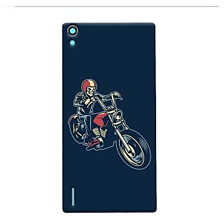 Oyehoye Bikers Or Riders Choice Printed Designer Back Cover For Huawei Ascend P7 / Dual Sim Mobile Phone - Matte Finish Hard Plastic Slim Case