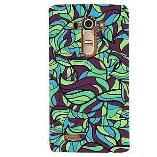 Oyehoye Modern Art Pattern Style Printed Designer Back Cover For LG G4 H818N Mobile Phone - Matte Finish Hard Plastic Slim Case