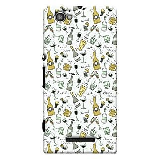 Oyehoye Patter Style Printed Designer Back Cover For Sony Xperia M Mobile Phone - Matte Finish Hard Plastic Slim Case
