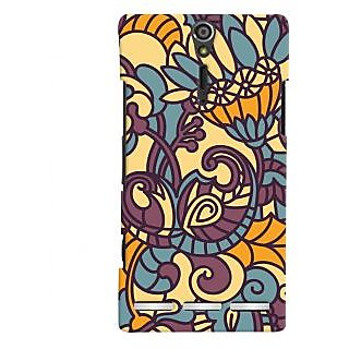 Oyehoye Floral Pattern Style Printed Designer Back Cover For Sony Xperia SL Mobile Phone - Matte Finish Hard Plastic Slim Case