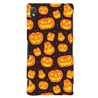 Oyehoye Halloween Pattern Style Printed Designer Back Cover For Sony Xperia Z3 Compact / Mini Mobile Phone - Matte Finish Hard Plastic Slim Case