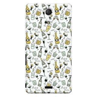 Oyehoye Patter Style Printed Designer Back Cover For Sony Xperia ZR Mobile Phone - Matte Finish Hard Plastic Slim Case