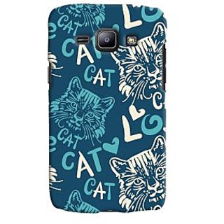 Oyehoye Cat Love Pattern Style Printed Designer Back Cover For Samsung Galaxy J1 (2016 Edition) Mobile Phone - Matte Finish Hard Plastic Slim Case