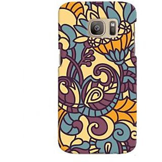 Oyehoye Floral Pattern Style Printed Designer Back Cover For Samsung Galaxy S7 Edge Mobile Phone - Matte Finish Hard Plastic Slim Case