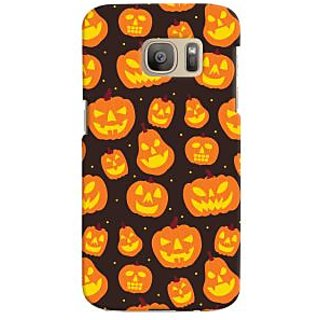 Oyehoye Halloween Pattern Style Printed Designer Back Cover For Samsung Galaxy S7 Edge Mobile Phone - Matte Finish Hard Plastic Slim Case