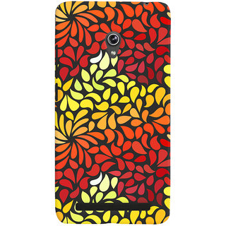 Oyehoye Pattern Style Printed Designer Back Cover For Asus Zenfone 6 Mobile Phone - Matte Finish Hard Plastic Slim Case