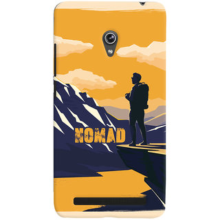 Oyehoye Nomad Travellers Choice Printed Designer Back Cover For Asus Zenfone 6 Mobile Phone - Matte Finish Hard Plastic Slim Case