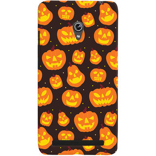 Oyehoye Halloween Pattern Style Printed Designer Back Cover For Asus Zenfone 6 Mobile Phone - Matte Finish Hard Plastic Slim Case
