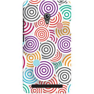 Oyehoye Colourful Pattern Printed Designer Back Cover For Asus Zenfone 6 Mobile Phone - Matte Finish Hard Plastic Slim Case
