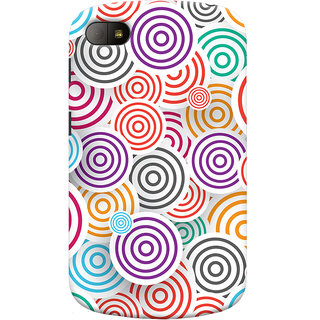 Oyehoye Colourful Pattern Printed Designer Back Cover For Blackberry Q10 Mobile Phone - Matte Finish Hard Plastic Slim Case