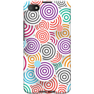 Oyehoye Colourful Pattern Printed Designer Back Cover For Blackberry Z30 Mobile Phone - Matte Finish Hard Plastic Slim Case