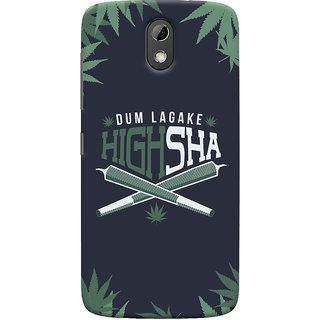 Oyehoye Dum Laga Ke Highsha Quirky Printed Designer Back Cover For HTC Desire 526G Plus / Dual Sim Mobile Phone - Matte Finish Hard Plastic Slim Case