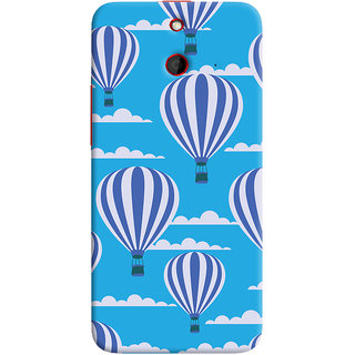 Oyehoye Hot Air Balloon Pattern Style Printed Designer Back Cover For HTC One E8 Mobile Phone - Matte Finish Hard Plastic Slim Case