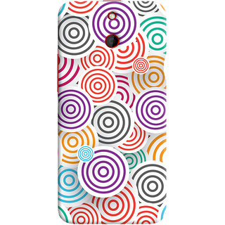 Oyehoye Colourful Pattern Printed Designer Back Cover For HTC One E8 Mobile Phone - Matte Finish Hard Plastic Slim Case
