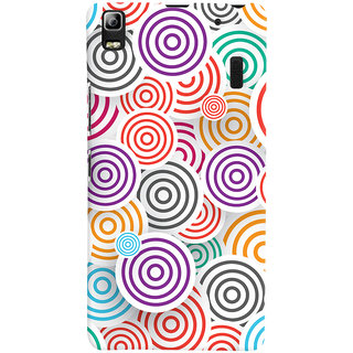Oyehoye Colourful Pattern Printed Designer Back Cover For Lenovo A7000 Mobile Phone - Matte Finish Hard Plastic Slim Case