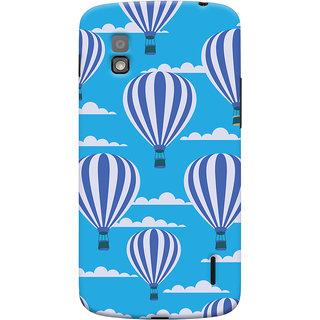 Oyehoye Hot Air Balloon Pattern Style Printed Designer Back Cover For LG Google Nexus 4 Mobile Phone - Matte Finish Hard Plastic Slim Case