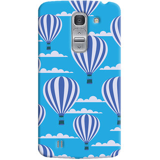 Oyehoye Hot Air Balloon Pattern Style Printed Designer Back Cover For LG Pro 2 / D838 Mobile Phone - Matte Finish Hard Plastic Slim Case