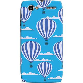Oyehoye Hot Air Balloon Pattern Style Printed Designer Back Cover For Motorola RAZR V XT885 Mobile Phone - Matte Finish Hard Plastic Slim Case