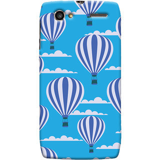Oyehoye Hot Air Balloon Pattern Style Printed Designer Back Cover For Motorola RAZR V XT889 Mobile Phone - Matte Finish Hard Plastic Slim Case