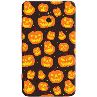 Oyehoye Halloween Pattern Style Printed Designer Back Cover For Microsoft Lumia 1320 Mobile Phone - Matte Finish Hard Plastic Slim Case