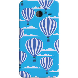 Oyehoye Hot Air Balloon Pattern Style Printed Designer Back Cover For Microsoft Lumia 640 XL Mobile Phone - Matte Finish Hard Plastic Slim Case