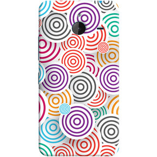 Oyehoye Colourful Pattern Printed Designer Back Cover For Microsoft Lumia 640 XL Mobile Phone - Matte Finish Hard Plastic Slim Case