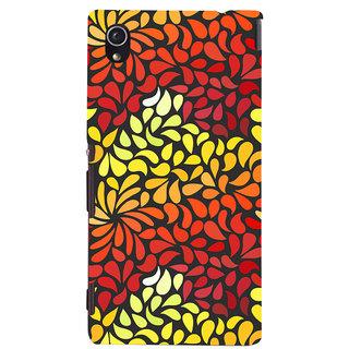 Oyehoye Pattern Style Printed Designer Back Cover For Sony Xperia M4 Aqua/Dual Sim Mobile Phone - Matte Finish Hard Plastic Slim Case