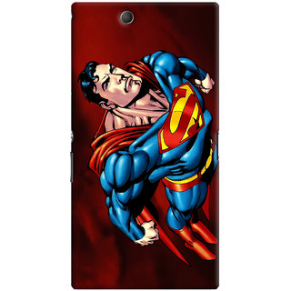 Oyehoye Superman Printed Designer Back Cover For Sony Xperia Z Ultra Mobile Phone - Matte Finish Hard Plastic Slim Case