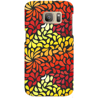 Oyehoye Pattern Style Printed Designer Back Cover For Samsung Galaxy S7 Edge Mobile Phone - Matte Finish Hard Plastic Slim Case