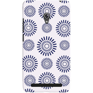 Oyehoye Pattern Style Printed Designer Back Cover For Asus Zenfone 6 Mobile Phone - Matte Finish Hard Plastic Slim Case
