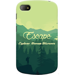 Oyehoye Travellers Escape Printed Designer Back Cover For Blackberry Q10 Mobile Phone - Matte Finish Hard Plastic Slim Case