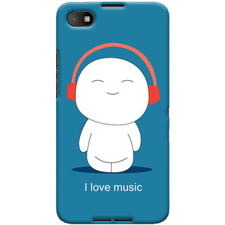 Oyehoye I Love Music Printed Designer Back Cover For Blackberry Z30 Mobile Phone - Matte Finish Hard Plastic Slim Case