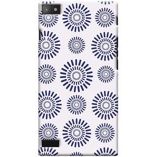 Oyehoye Pattern Style Printed Designer Back Cover For Blackberry Z3 Mobile Phone - Matte Finish Hard Plastic Slim Case