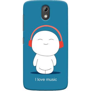 Oyehoye I Love Music Printed Designer Back Cover For HTC Desire 526G Plus / Dual Sim Mobile Phone - Matte Finish Hard Plastic Slim Case