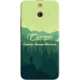 Oyehoye Travellers Escape Printed Designer Back Cover For HTC One E8 Mobile Phone - Matte Finish Hard Plastic Slim Case