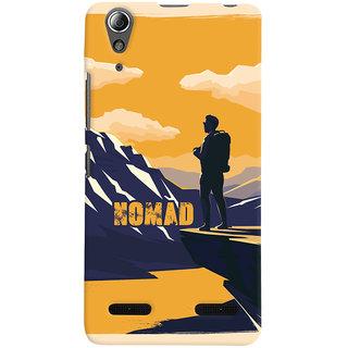 Oyehoye Nomad Travellers Choice Printed Designer Back Cover For Lenovo A6000 Mobile Phone - Matte Finish Hard Plastic Slim Case