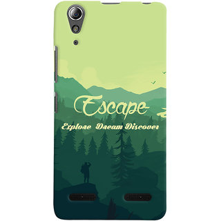 Oyehoye Travellers Escape Printed Designer Back Cover For Lenovo A6000 Mobile Phone - Matte Finish Hard Plastic Slim Case