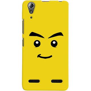 Oyehoye Sarcastic Smiley Quirky Printed Designer Back Cover For Lenovo A6000 Mobile Phone - Matte Finish Hard Plastic Slim Case
