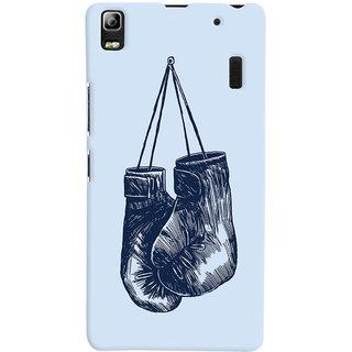 Oyehoye Boxing Minimal Art Printed Designer Back Cover For Lenovo A7000 Mobile Phone - Matte Finish Hard Plastic Slim Case