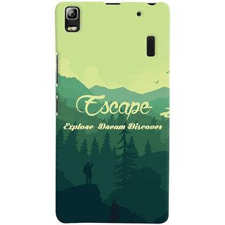 Oyehoye Travellers Escape Printed Designer Back Cover For Lenovo A7000 Mobile Phone - Matte Finish Hard Plastic Slim Case