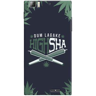 Oyehoye Dum Laga Ke Highsha Quirky Printed Designer Back Cover For Lenovo K900 Mobile Phone - Matte Finish Hard Plastic Slim Case