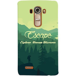 Oyehoye Travellers Escape Printed Designer Back Cover For LG G4 H818N Mobile Phone - Matte Finish Hard Plastic Slim Case