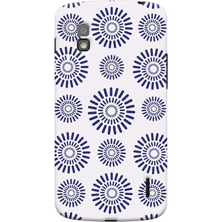Oyehoye Pattern Style Printed Designer Back Cover For LG Google Nexus 4 Mobile Phone - Matte Finish Hard Plastic Slim Case